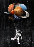"""marcos negros para pinturas al óleo al por mayor-Sin marco / Alec Monopoly """"Stars The Limit"""", HD Canvas Print arte de la pared decoración de la pintura, cultura del arte de la oficina"""