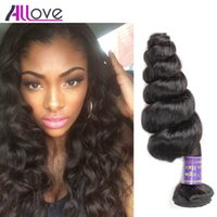 Wholesale human hair weaves for black women for sale - Group buy Brazilian Virgin Hair Loose Wave Good A Unprocessed Brazilian Human Hair Weaves Bundles Natural Black For Black Women