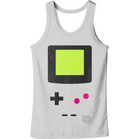 Wholesale xl console - Mens Funny Game Console Printed Fitness Gym Tank Tops Aerobics Clothing Male Sports Workout Sleeveless Body hugging Vests