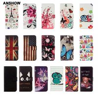 Wholesale apple 6s usa for sale - Group buy Cover For Iphone XR XS MAX X S UK USA Flag Leather Wallet Cases Galaxy Note S9 Eiffel Tower Bear Flower Butterfly Flip Owl Pouch