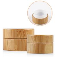 ingrosso crema di bambù-5g 10g Alta Qualtiy Bamboo Bottle Cream Jar Nail Art Mask Cream Bottiglia di contenitore cosmetico trucco vuoto riutilizzabile