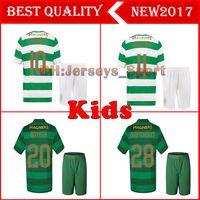 Wholesale celtic kits - Kids set 2017 2018 Scotland Celtic Soccer Jersey 17 18 Home away DEMBELE GRIFFITHS LUSTIG BROWN youth child kits shirt