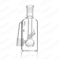 Wholesale Flow Clear - JM Flow Sci Glass 18mm Ashcatch for Water Pipe 5.5inch Mini Glass Bong Ash Catchers Thick Pyrex Clear Bubbler Ashcatcher