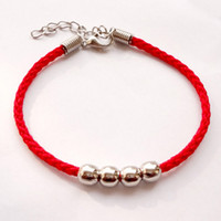 Wholesale Hot Transport - Factory wholesale Trendy Hand-woven Chakra Bracelets transport beads red rope woven ring jewelry hot sell