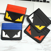 Wholesale red eye mini - 2017 brand lucky small eyes fashion 4 colors Classic Design Bank card mini Small purse Card Holders