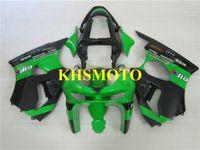 ingrosso zx6r 1998 99-Kit carena motociclistica di alta qualità per KAWASAKI Ninja ZX6R 636 98 99 ZX 6R 1998 1999 ABS Verde nero Carenatura + Regali KP01