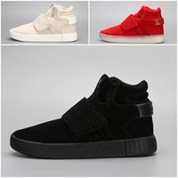 Wholesale tubular invader strap resale online - 2018 High Quality Tubular Invader Strap Kanye West Mens Sports Running Athletic Sneakers Shoes Size