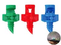 Wholesale mini garden tools wholesale - Plastic Practical Watering Nozzle For Garden Agriculture Plants Sprinkler Irrigation Tools Mini 90 180 360 Degree Design Equipments 33qt XZ