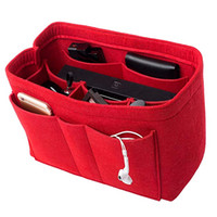 Wholesale organizer totes for women resale online - Felt MM Fabric Purse Organizer Insert for Purse Handbag Tote Bag Multi Pocket Bag in Bag Organizer For Tote Handbag Shaper Sizes