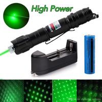 caneta laser militar venda por atacado-Laser verde da marca New 1mw 532nm 8000M alta potência ponteiro Luz Pen Lazer feixe laser verde militar Frete grátis