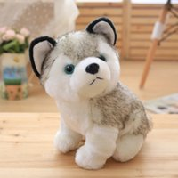 Wholesale Plush Cat Toys - Husky dog plush toys small stuffed animals doll toys 18cm Gift Children Christmas Gift Stuffed Plush toys free shiping