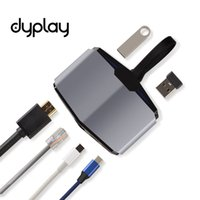 Wholesale rj45 jacks - dyplay 6 in 1 Digital Multiport USB C Hub USB C PD Charging,USB Gbps Data, Dual 3.1 Ports, HDMI Ethernet,RJ45 Jack Adapter