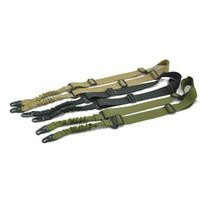 Wholesale nylon gun sling online - 2 points sling for rifle gun with adjustable length Tactical Nylon shoulder strap sling for ourdoor hunting shotgun