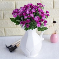 Wholesale white flower lilacs for sale - Group buy Fake Clove stems piece Simulation Lilac with Plastic White Flowers for Wedding Home Showcase Decorative Artificial Flower