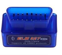 hyundai kia diagnostische werkzeuge großhandel-Super MINI ELM327 Bluetooth OBD2 V1.5 blau Auto-Diagnoseschnittstelle ULME 327 Wireless Scan Tool