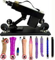 Wholesale thrusting machines - Automatic Sex Machine Multispeed Adjustable Thrusting with 6 Dildo Retractable Gun Female Masturbation Pumping Gun for Women,