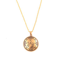 Wholesale magical necklaces resale online - New Arrived Female Male Necklace Magical Pattern Archangel God Name SAMAEL Written Personality Gift Zinc Alloy Provide Dropshipping