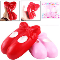 Wholesale Universal Shoes - Kawaii Ballet Shoes Super Slow Rising Toys Jumbo Squeeze Phone Charms Stress Reliever Kids Gift with Retail Package