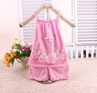 Wholesale Tow Pieces - Hot sale summer toddler baby girl sweetly tow pieces sets lovely flower blouse+pant 2pcs set kids outfits