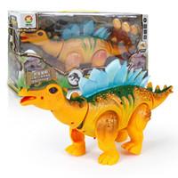 spazieren gehen großhandel-Kinder Miniaturen Spielzeug Elektrische Künstliche Sound Dinosaurier Mit Lichtprojektion Walk Und Legen Eier Spielzeug Geschenk 24 9bb W