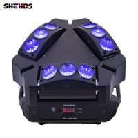 Wholesale Moving Head Light Rgbw Cree - New Arrival CREE MINI LED 9x10W Led Spider Light RGBW 16 48CH DMX Stage Lights Dj Led Spider Moving Head Beam Light