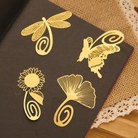 Wholesale cute metal bookmark - Mini Cute Metal Bookmark Clips Antique Plated Butterfly Bookmarks Card Chinese Style Stationery Student 200pcs lot