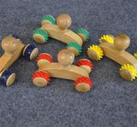 rouleau de roue de massage achat en gros de-En cuir en bois, voiture de massage à quatre roues, confort pratique, main, pied, arrière, outil complet de pétrissage en bois, rouleau manuel type 1 1 x Y