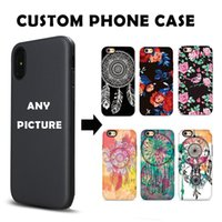 Wholesale Iphone Case Diy Design - Custom Customize Phone Embossed Case DIY LOGO Print Photo Design Create Design Own Matte Hard Relief Cover for iPhone X 8 Plus Huawei