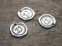 Wholesale letter d pendant for sale - 15pcs Antique Tibetan Silver Tone Alphabet Letter D Charm Pendant Letter D Alphabet Charms x18mm