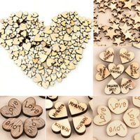 Wholesale button party supplies - 50pcs lot JUST MARRY LOVE Wooden Hearts Stars Shapes Bunting Button Craft Tools Home Room Decor Party Supplies Wedding Decoration