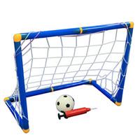 portão de esportes venda por atacado-Dobrável portátil Crianças Kid Goal Football Portão Conjunto de Futebol Portão Brinquedo Ao Ar Livre Indoor Toy Sports