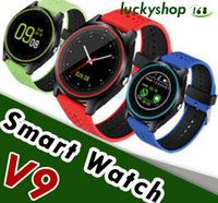 Wholesale new wrist mobile phone - New V9 Smart Watches SIM Intelligent Mobile Phone Watch Can Record the Sleep State Smart Watch with Package Free DHL