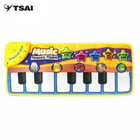 Wholesale animals musical toy piano online - Multifunctional Kids Informative Educational Musical Toys Innovative Musical Kid Piano Play Mat with Lovely Animal Pattern