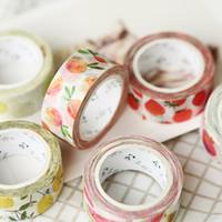 Wholesale fruit tape resale online - Cute Kawaii fruit masking washi tape diy decorative adhesive tape for scrapbooking decoration Student