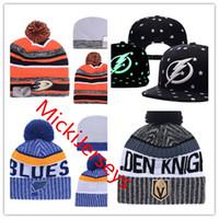 Wholesale Duck Knitting - Tampa Bay Lightning Adjustable Snapback Caps Anaheim Ducks Hat St. Louis Blues Knit Hat Vegas Golden Knights beanies Caps