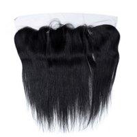 verwickelt großhandel-Rshow_hair Brasilianisches Gerades Haar 13 * 4 Haar Verschluss Haar Keine Verwicklung Natürliche Farbe 10-22 Zoll Freies Teil