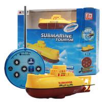 Wholesale mini plastic submarines resale online - Mini remote control submarine USB charging speed nautical remote control boat Children strange Explore educational toys