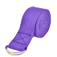 correa de figura al por mayor-D-Ring Belt Fitness Ejercicio Gym Rope Figure Cintura Resistencia a la pierna Fitness Bandas de algodón Multi-Colors Mujeres Yoga Stretch Strap