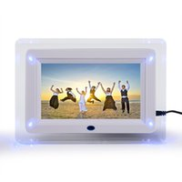 """Wholesale lcd tft mp4 - 7"""" TFT-LCD Multi-functional Digital Photo Picture Movie Frame MP3 MP4 Player Alarm Clock Light Flashing Remote Control Desktop"""