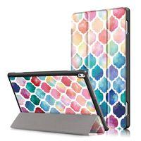 tab4 cover großhandel-Painted Tablet Hülle Für Lenovo Tab4 10 TB-X304F X304N PU Ledertasche Für Lenovo Tab 4 10 plus TB-X704F / N + Stift