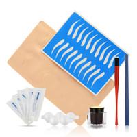 suministros pin al por mayor-Kit Profesional de Tatuaje Manual de Pluma Azul 14 Pines Beginner Body Art Supplies Kit de Agujas Microblading Tattoo Body Art