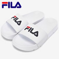 Wholesale blue light for room - 2018 Fila Slippers For Men Women Scuffs Beach Slipper Shoes Sandals Black White Red Anti-slipping Outdoor Light Soft Water Shoe Size 36-44