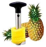 sebze meyveleri soyulması toptan satış-Paslanmaz Çelik Ananas Soyucu Kesici Dilimleme Tart Soyma Çekirdek Araçları Meyve Sebze Bıçağı Gadget Mutfak Spiralizer OOA4831