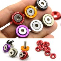 Wholesale fender washer resale online - 10PCS M6x20 Car Styling Universal Modification JDM Sticker Stickers Password Fender Washer License Plate Bolts Auto Accessories