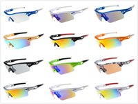 Wholesale drop shipping sunglasses - Half Frame Cycling Outdoor Racing Sport Sunglasses For Men and Women Wholesale dazzling eyeglasses sports goggle Eyewear With box drop ship