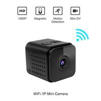 cámara nocturna invisible al por mayor-HDQ13 Wi-Fi Mini cámara HD 1080P Video inalámbrico de carga durante la grabación Invisible infrarrojos Night Vision Motion Detection Cam para R