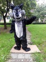 robes de fantaisie adultes achat en gros de-Mascotte de loup en peluche taille adulte costume de loup-garou Coyote costume fantaisie personnalisé costume mascotte costume de carnaval déguisement