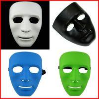 ingrosso maschera di protezione completa-Jabbawockeez Full Face Masquerade Halloween Hiphop Plain Maschere Danze in plastica di alta qualità Eseguire Maschera con Multi Color 2cr jj