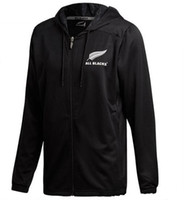 Wholesale new zealand clothing online - Hot sales All Blacks Black Hoodie New Zealand Super Rugby Jerseys All Blacks jersey Casual clothes Jacket s xl