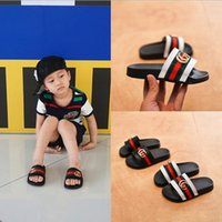Wholesale baby girls slippers - Children's slippers summer new 2018 children's Shoes Boys dragging girls baby parents beach slippers direct deal